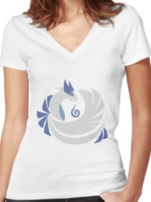 Soul Silver - Lugia Women's Fitted V-Neck T-Shirt