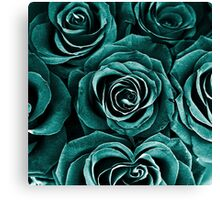 Rose Bouquet in Turquoise Canvas Print