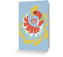Heart Gold - Ho-Oh Greeting Card