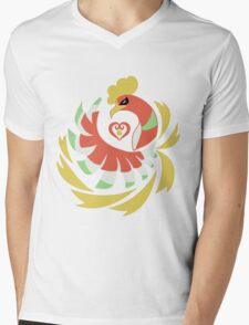 Heart Gold - Ho-Oh Mens V-Neck T-Shirt
