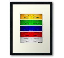 five elements Framed Print