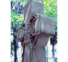 cross headstone Photographic Print