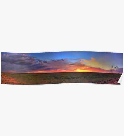 Pilbara Sunset 1 (HDR Panorama) Poster