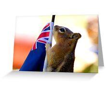 Jasper Waves The New Zealand Flag  Greeting Card