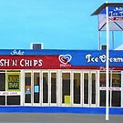 Fish and Chips and Ice Cream Parlour by Joan Wild