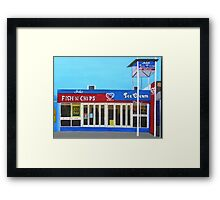 Fish and Chips and Ice Cream Parlour Framed Print