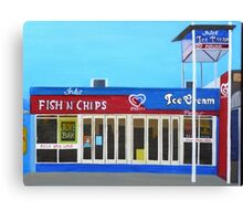 Fish and Chips and Ice Cream Parlour Canvas Print