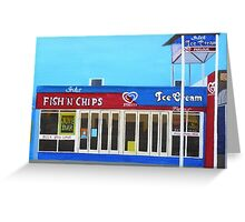 Fish and Chips and Ice Cream Parlour Greeting Card