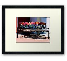 The Tulip Bench Framed Print