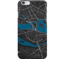Stockholm city map black colour iPhone Case/Skin