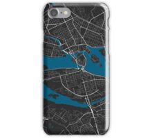 Stockholm city map black colour iPhone Case/Skin
