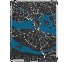 Stockholm city map black colour iPad Case/Skin