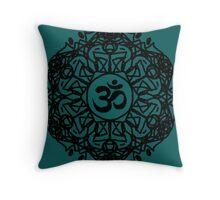 Flower Mandala & Om Throw Pillow