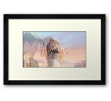 "Castle ""Always"" Edit Framed Print"