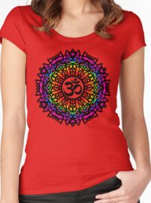 Rainbow Mandala & Om Women's Fitted Scoop T-Shirt