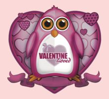 Valentine Loved - Pink Penguin Kids Clothes