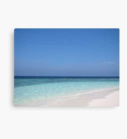Maldives Perfect Beach Canvas Print
