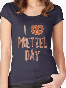 I love Pretzel Day Women's Fitted Scoop T-Shirt