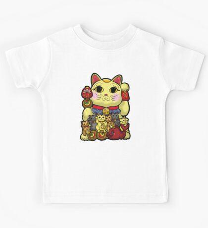 Lucky Cat and Kittens - Maneki Neko Kids Tee