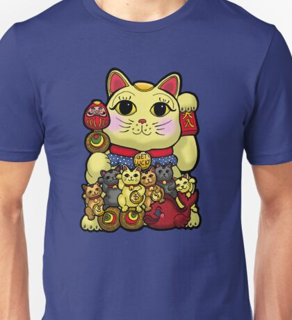 Lucky Cat and Kittens - Maneki Neko Unisex T-Shirt