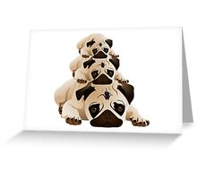 Stack of Pugs Greeting Card