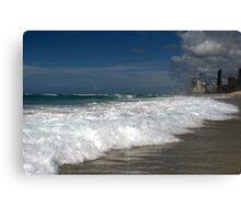 Gold Coast sea beach, who lives there! Canvas Print