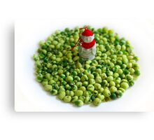 Monk and Wasabi Pea Flock Canvas Print