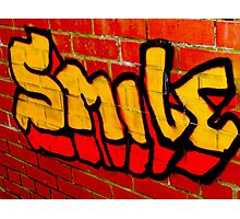 Smile Photographic Print