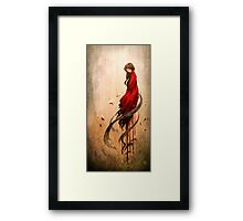 Girl in Red Framed Print