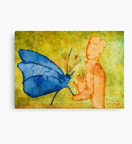 Don't deny a short-life butterfly's love Canvas Print