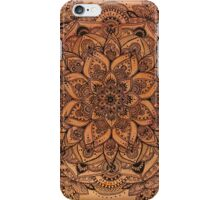 Red Mandala Transparent Background iPhone Case/Skin