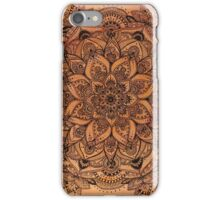 Red Mandala Transparent Background iPhone Case/Skin
