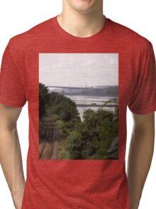 Transport systems Rail track River, Bridge and air - Derry Ireland Tri-blend T-Shirt