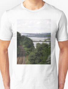 Transport systems Rail track River, Bridge and air - Derry Ireland Unisex T-Shirt