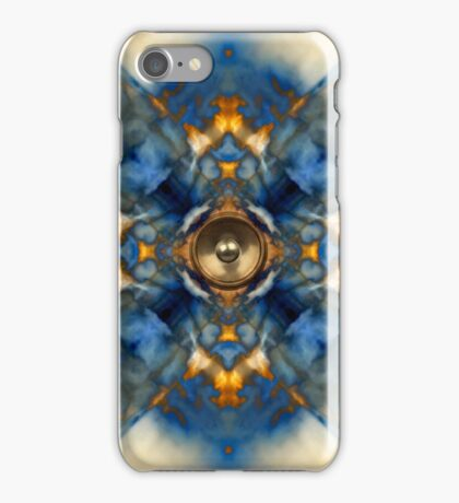 Music speaker kaleidoscope background iPhone Case/Skin