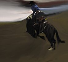 Rodeo Abstract II by Al Bourassa