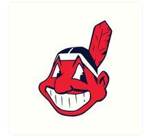Cleveland Indians logo 1 Art Print