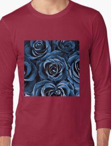 Rose Bouquet in Blue Long Sleeve T-Shirt
