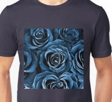 Rose Bouquet in Blue Unisex T-Shirt