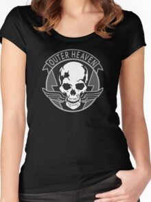Metal Gear Solid - Outer Heaven (Gray) Women's Fitted Scoop T-Shirt