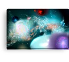 Out There In Space (Fractal Manipulation) Canvas Print