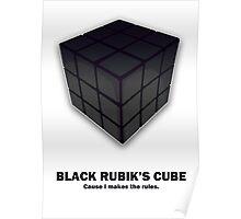 Black Rubik's Cube Poster