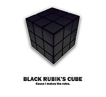 Black Rubik's Cube Photographic Print