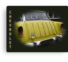 Yellow Trunk Chevy Canvas Print