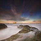 Last Light on the Bass Rock by bluefinart