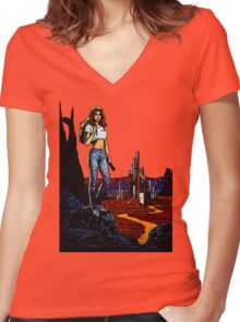 Alien from LA Women's Fitted V-Neck T-Shirt