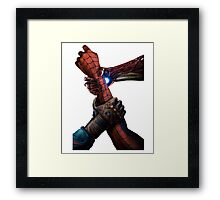 hand of hero Framed Print
