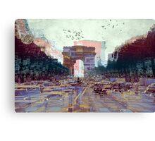Parisian Mosaic - Piece 25 - Les Champs-Élysées Canvas Print