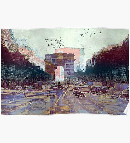 Parisian Mosaic - Piece 25 - Les Champs-Élysées Poster