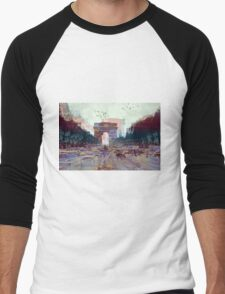 Parisian Mosaic - Piece 25 - Les Champs-Élysées Men's Baseball ¾ T-Shirt